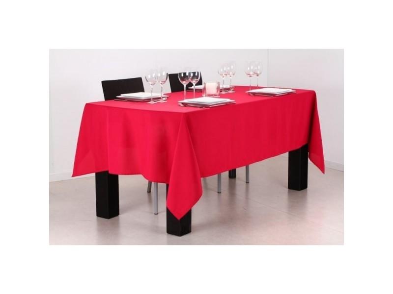 Nappe rectangulaire anti tache 140 x 240 cm framboise - Chemin de table anti tache ...