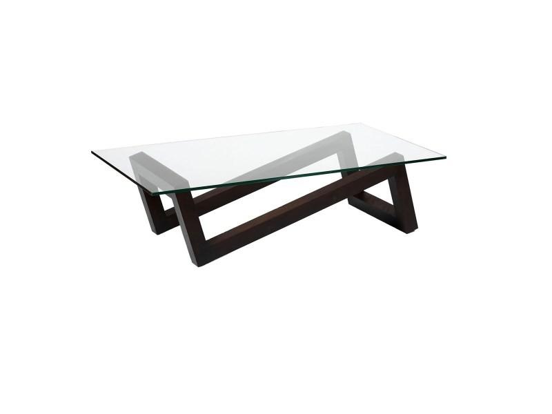 Table basse en bois zigzag vente de thomas de lussac for Meuble zig zag conforama