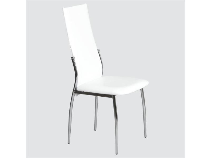 Table chaise conforama finest table de jardin alu hpl for Chaise blanche conforama