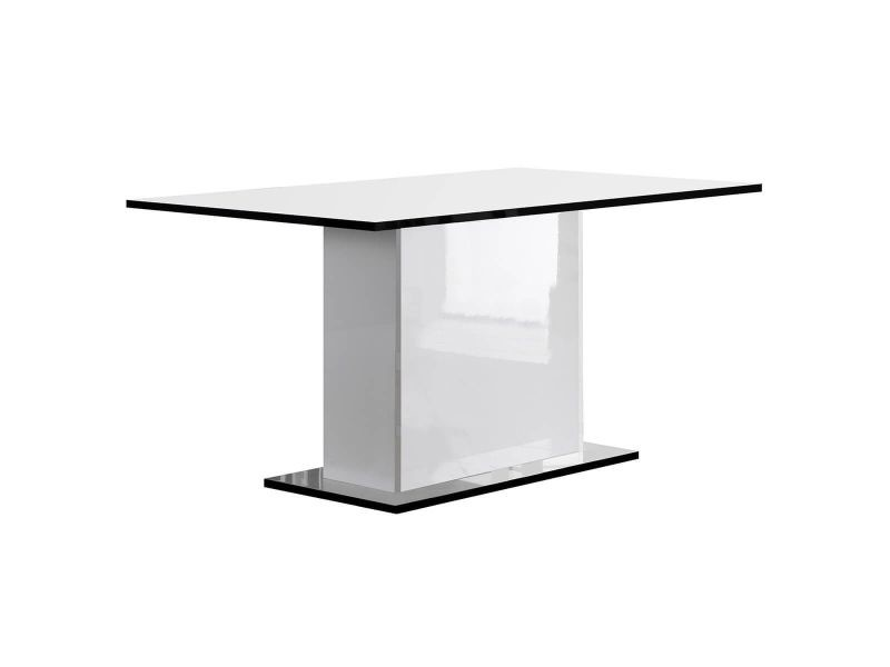 Columbus / alyssa - table rectangulaire laquée brillant blanc
