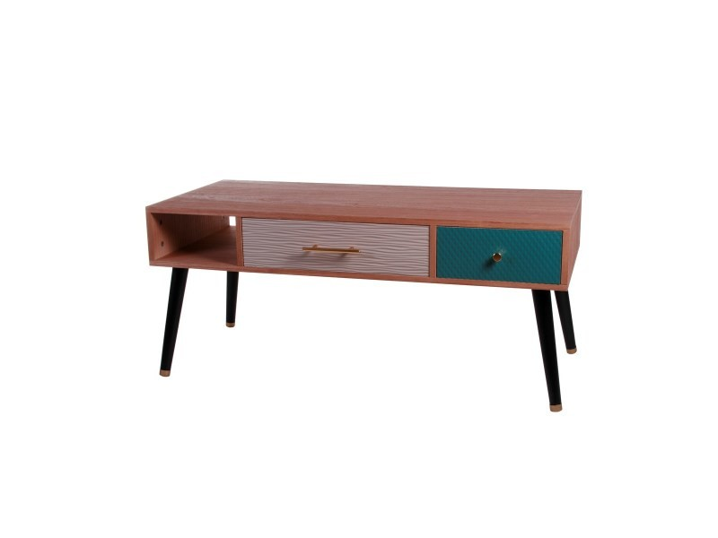 Table basse design style scandinave 2 tiroirs eagle