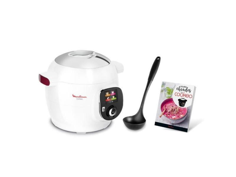 Yy4405fb multicuiseur intelligent cookéo+ 6l 100 recettes louche et livre de cuisine inclus - blanc MOUYY4405FB