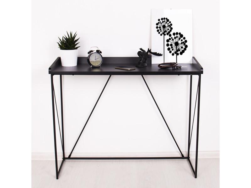Coiffeuse minimaliste - graph - 100 cm - anthracite / noir - style loft