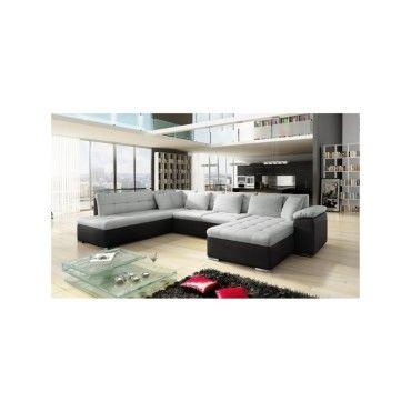 canape d39angle panoramique design alia gris et noir angle With tapis chambre bébé avec destockage canapé toulouse