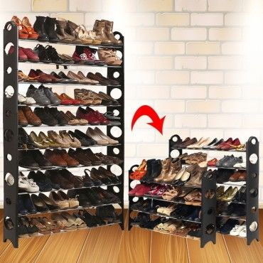etag re range chaussures modulable 50 paires vente de id market conforama. Black Bedroom Furniture Sets. Home Design Ideas