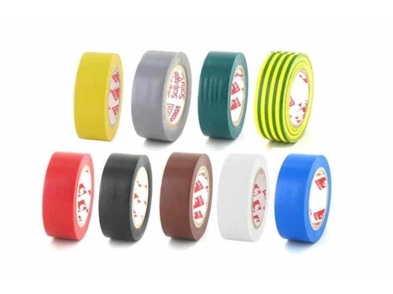 Pack 9 couleurs ruban adhésif 15 mm pvc électrique scapa 2702 9-couleurs-2702-15
