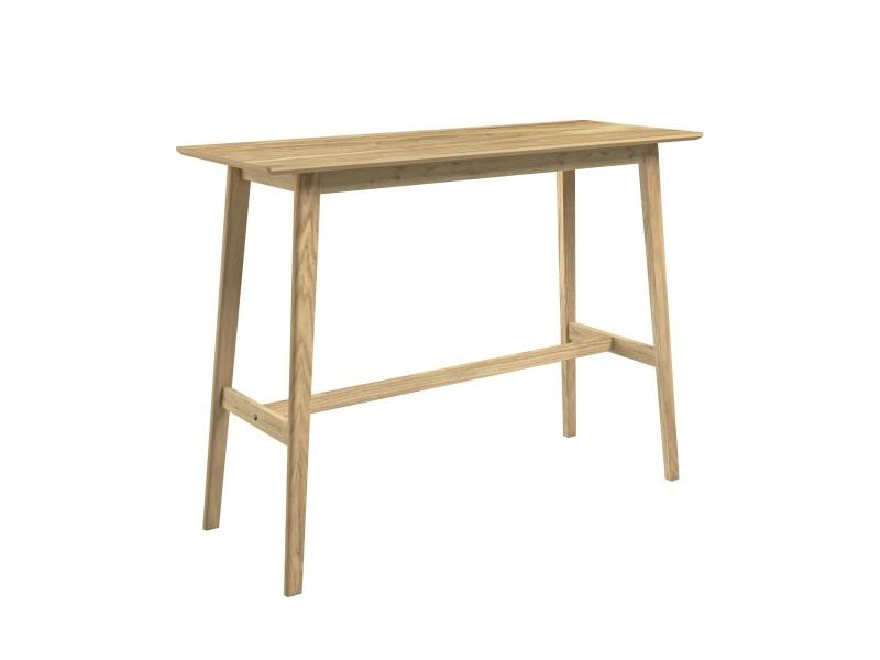 Table de bar buvette bois clair 120 cm