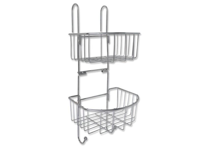tag re d 39 angle de salle de bain en m tal rangement pratique helloshop26 3202021 vente de. Black Bedroom Furniture Sets. Home Design Ideas