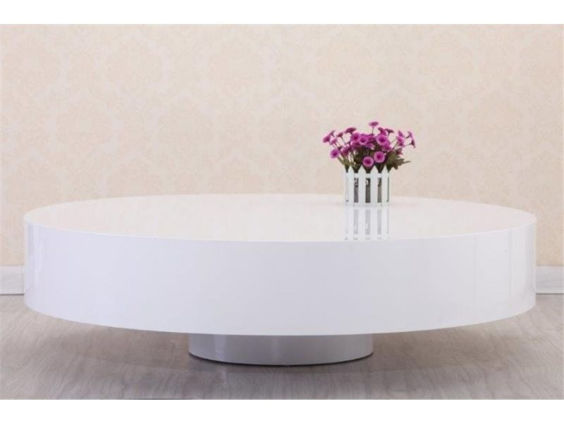 Table Basse Ronde Laquee Belius Blanc C433 Weiss Vente