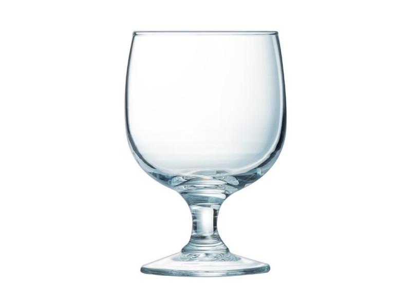 Verre à vin pour restaurant empilable trempé 19 cl à 25 cl - amélia arcoroc - lot de 12 - 10,5 cm verre trempé 19 cl