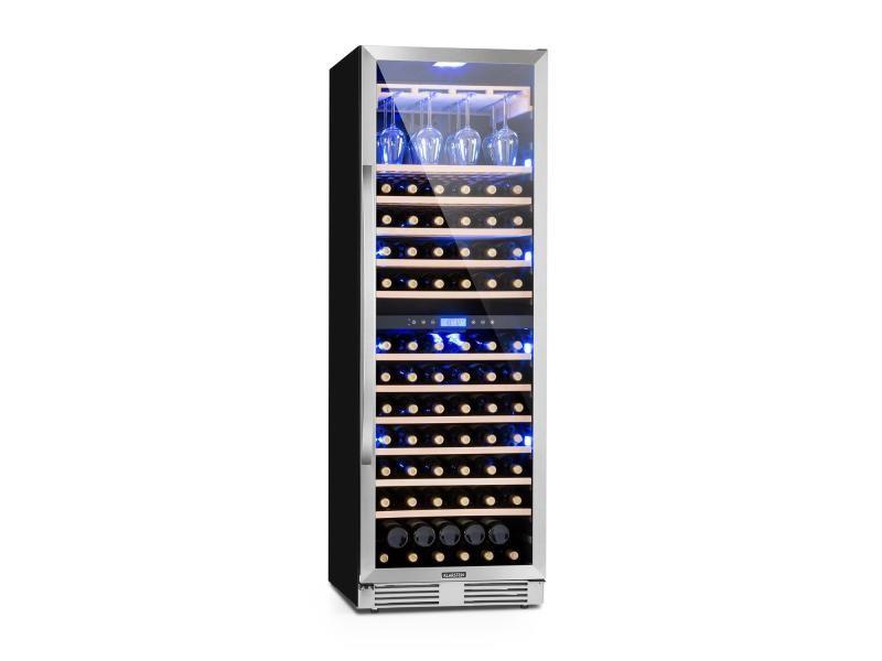 Klarstein vinovilla grande duo cave à vin réfrigérée 425 litres / 165 bouteilles - porte vitrée & cadre inox - classe b HEA8-VinovillaGraDuo