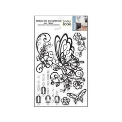 Sticker relief - 30 x 40 cm - papillons