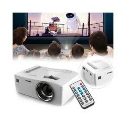 Mini projecteur lcd - 320 x 180, 48 lumens, télécommande