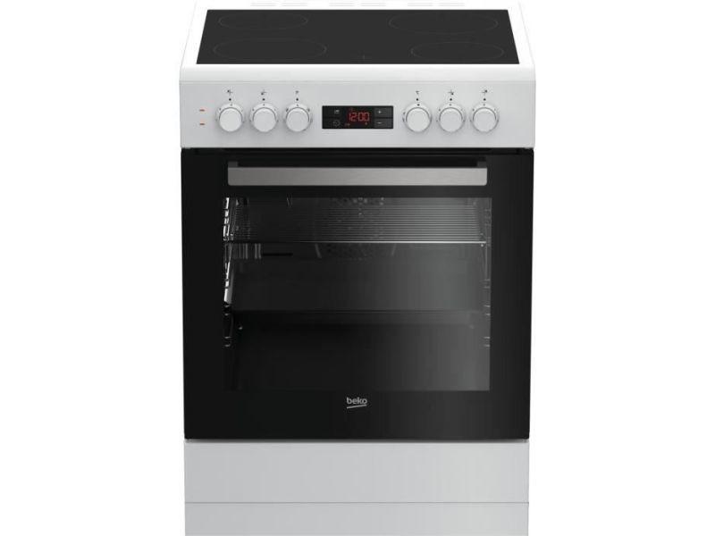 Beko fze67300wcs cuisiniere table vitroceramique- 4 zones-four electrique multifonction-82 l-a-l 60 x h 85 cm-blanc BEKFZE67300WCS