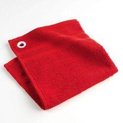 Torchon essuie-main éponge uni chef étoilé rouge 50 x 50 cm