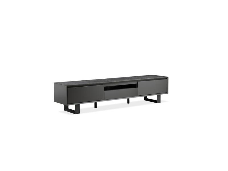 Meuble tv gris anthracite - ceramik