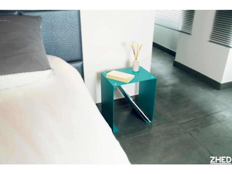Table d'appoint spirix rouge coquelicot hauteur 40 cm TaC_SPX_riv_h40_Coq