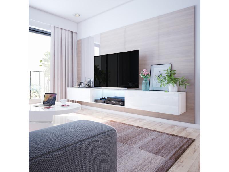 Meuble Tv Banc Tv Leo 300 Blanc Style Moderne Style