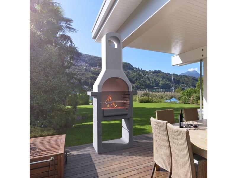 Admirable électroménager de cuisine categorie san josé support de barbecue au charbon de bois béton avec cheminée