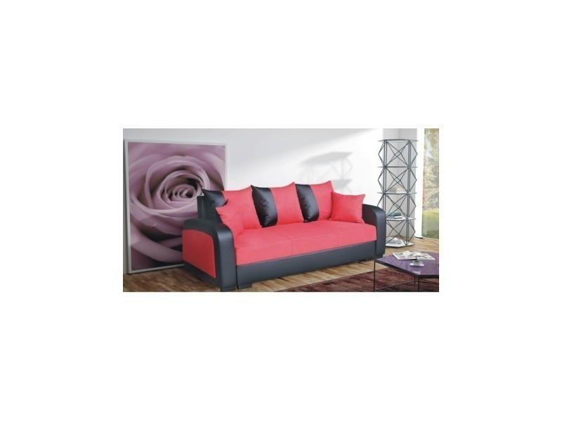 canap convertible fiona rouge et noir tendencio vente. Black Bedroom Furniture Sets. Home Design Ideas