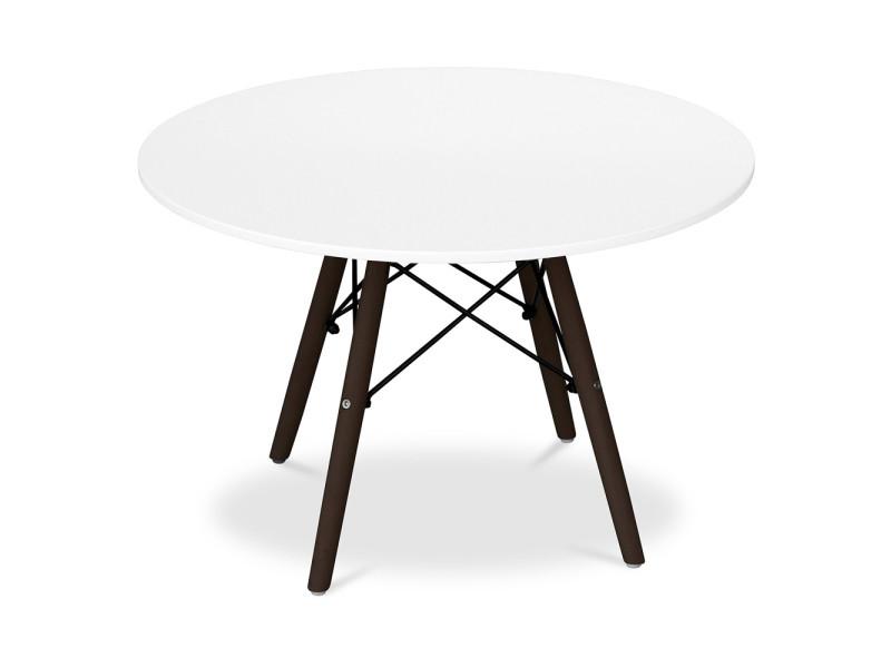 Table enfant dsw piètement foncé charles eames - style - bois blanc