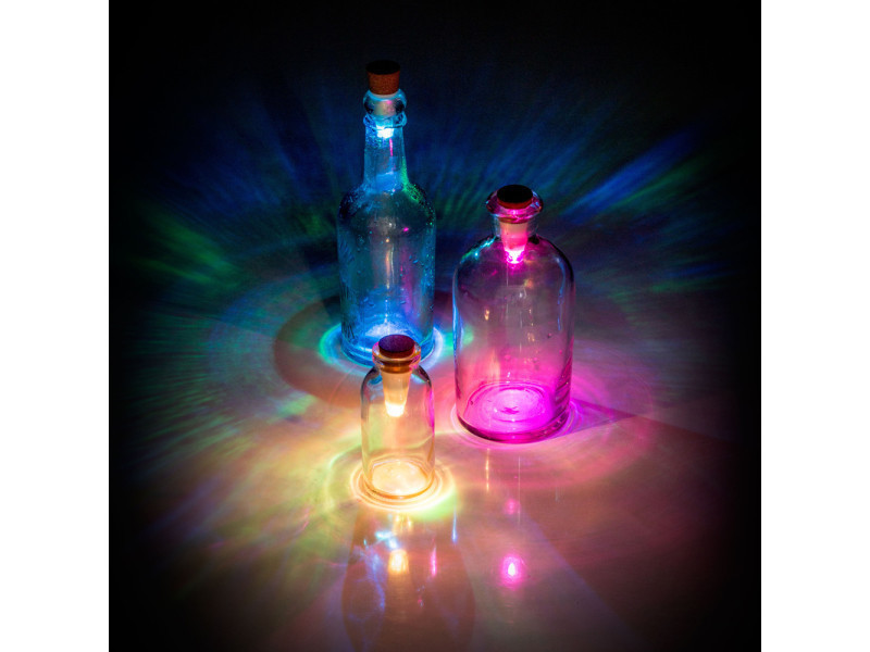 Bottle light colorée rechargeable