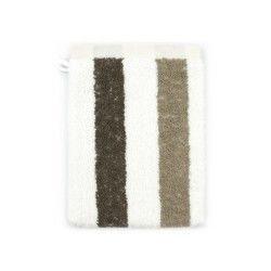 Gant de toilette 16x21 cm 100% coton 480 g/m2 classic stripes marron