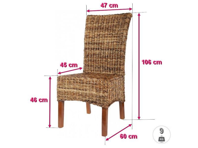Lot de 6 chaises elips en abaca vente de chaise conforama - Chaise en rotin conforama ...