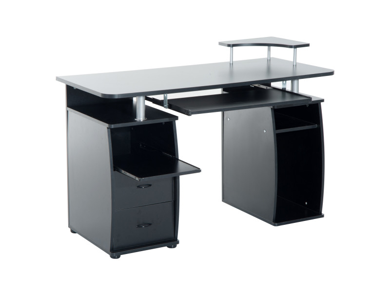 bureau pour ordinateur table meuble pc informatique multim dia en mdf vente de homcom conforama. Black Bedroom Furniture Sets. Home Design Ideas