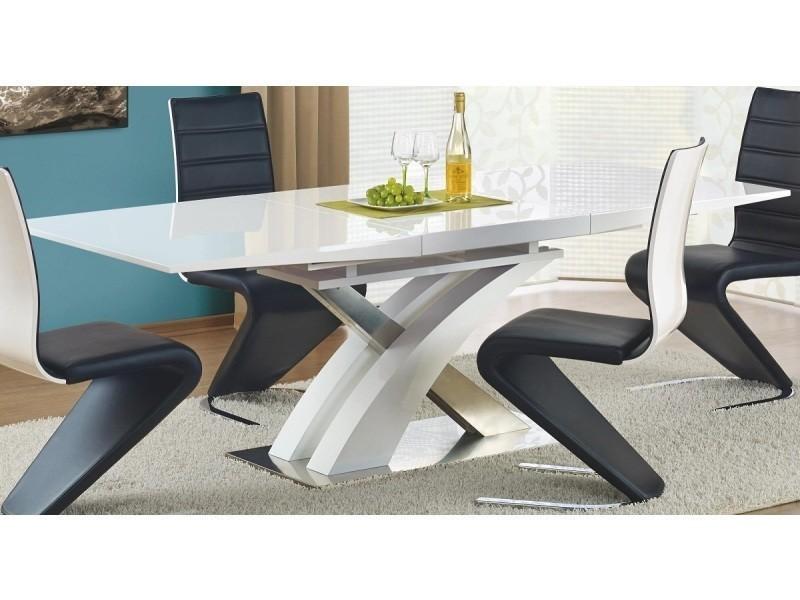 Table a manger design extensible 160÷220/90/75 cm - blanc