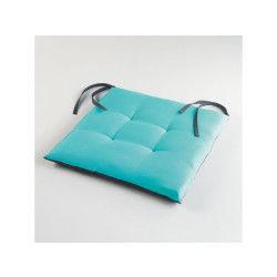 Assise matelassée 40x40x4cm bicolore garden aqua/anthracite