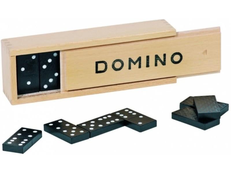 Hobbytech jeux des dominos de 28 pièces avec son coffret en bois 3,7 x 1,8 cm noir