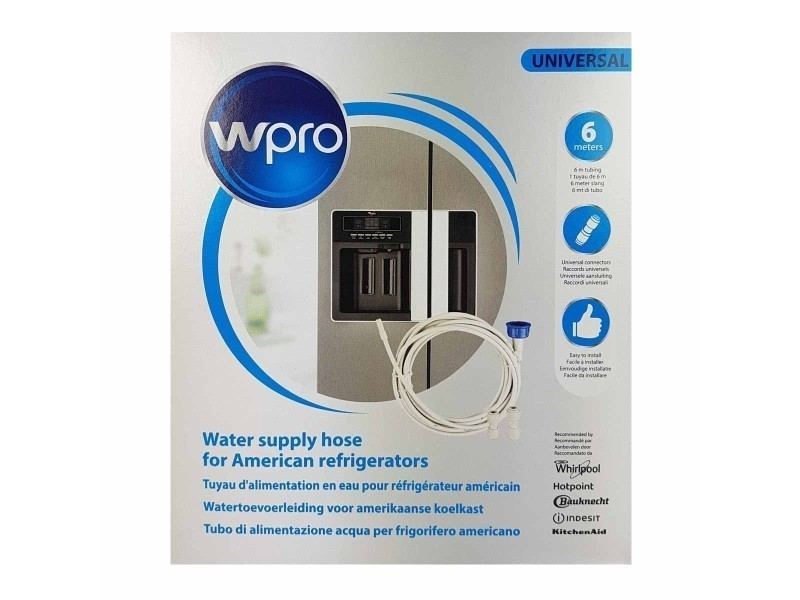 Kit tuyau d'alimentation en eau pour réfrigérateur américain avec raccords universels