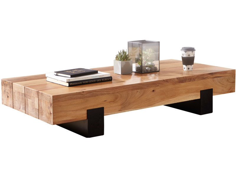 Table Basse Design Bois.Table Basse Design Marron Rustique En Bois Massif Acacia Et