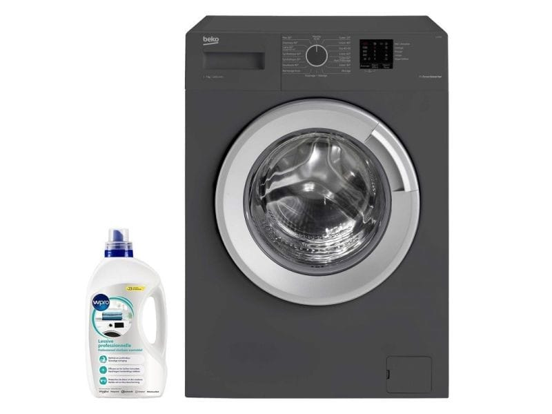 Lave-linge frontal 7kg a+++ 1200trs/min anti vibration machine à laver hublot