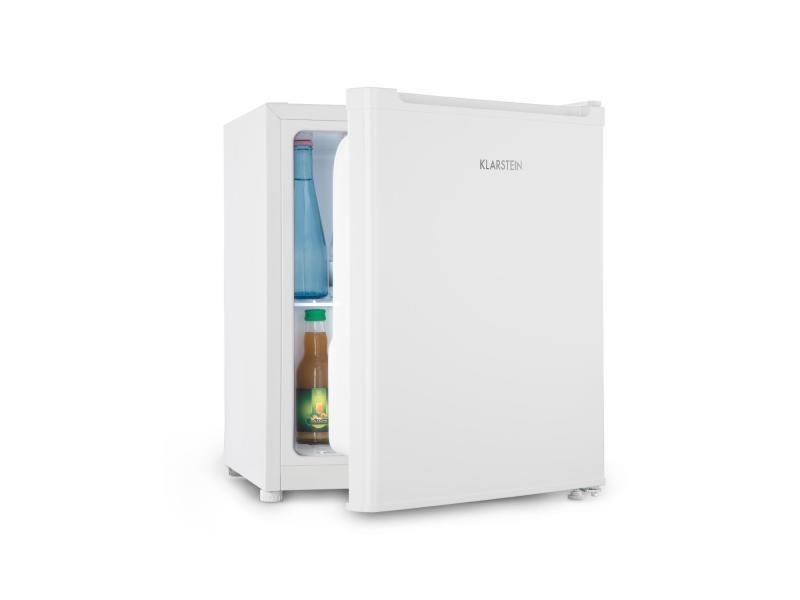 Klarstein snoopy eco mini réfrigérateur à boisson 46l + compartiment freezer - 41db - classe a++ - blanc