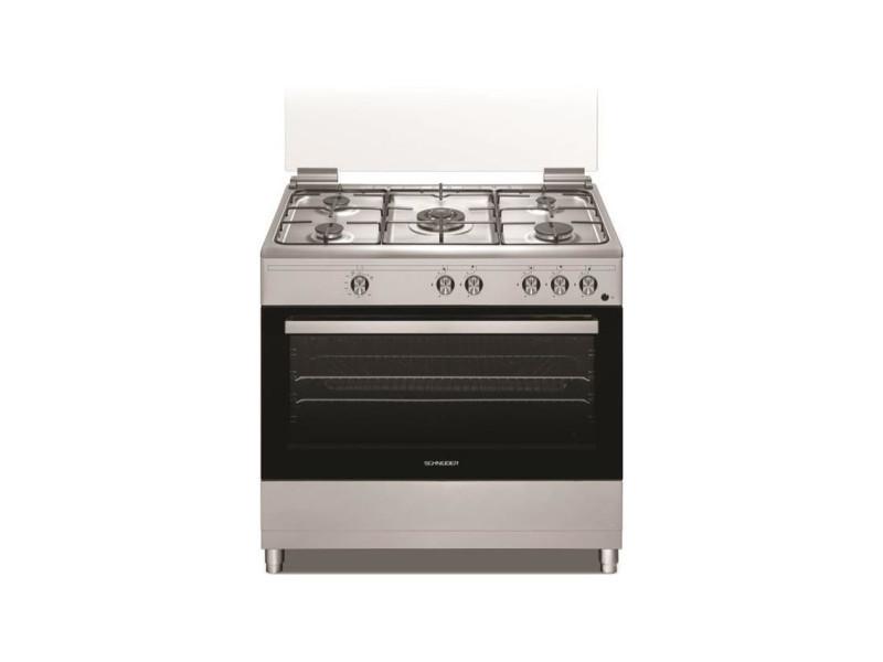 Schneider - sccfg95x - cuisiniere full gas 90cm - 5 foyers - four 96l SCH3527570071881