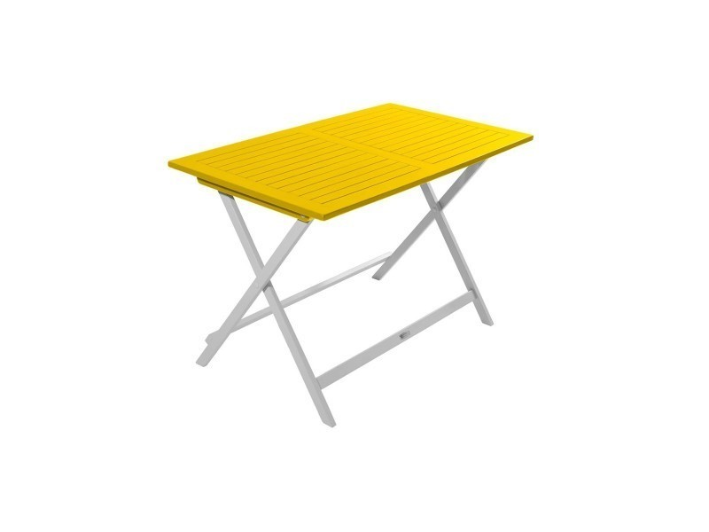 Table de jardin pliante rectangulaire en bois burano - Vente de CITY ...
