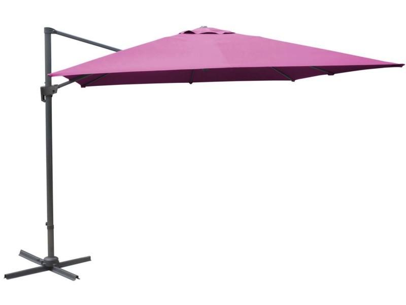 Parasol déporté carré 3 mètres