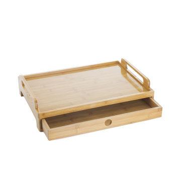 plateau de service avec tiroir en bambou - vente de secret de