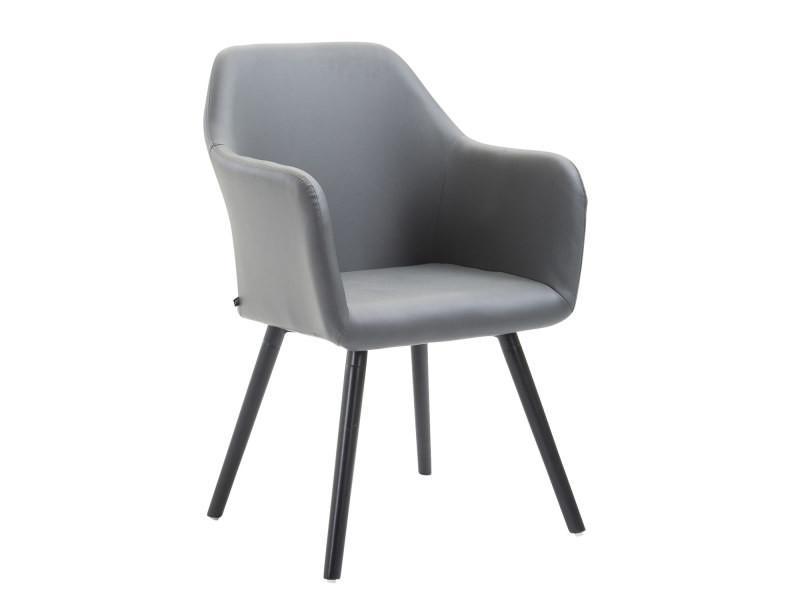 Moderne Chaise De Salle à Manger, De Cuisine, De Salon Alger Cuir  Synthetique Noir
