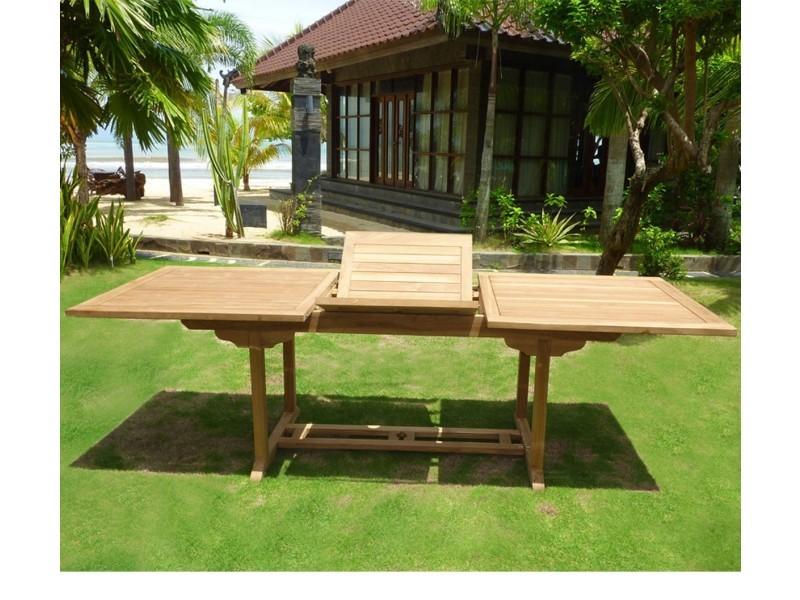 Table en teck de jardin pour 10 personnes : table rectangulaire à ...