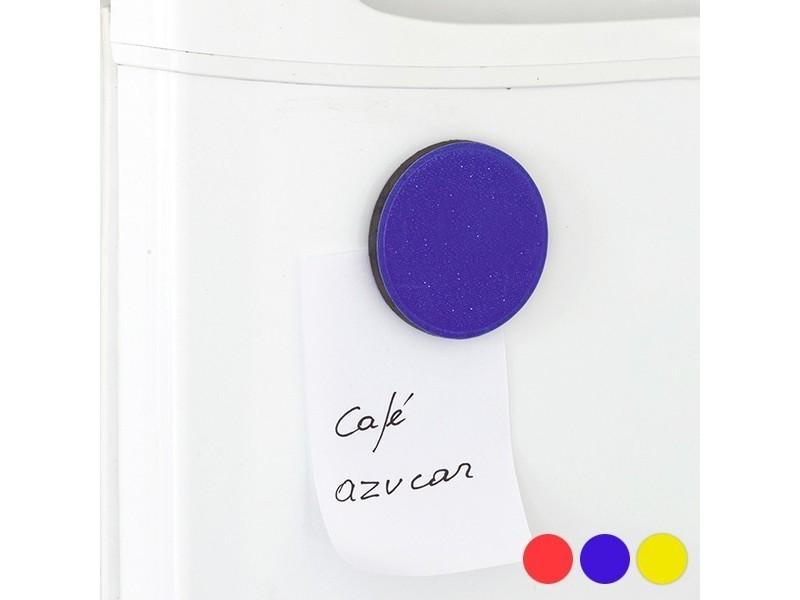 Aimant coloré (ø 5,5 cm) - magnette pour frigo couleur - rouge