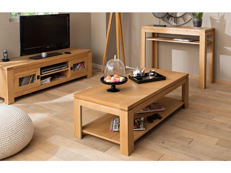 table basse moderne boston bois ch ne clair massif vente de hellin conforama. Black Bedroom Furniture Sets. Home Design Ideas