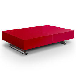 Table basse rouge conforama - Menzzo table basse relevable extensible ...