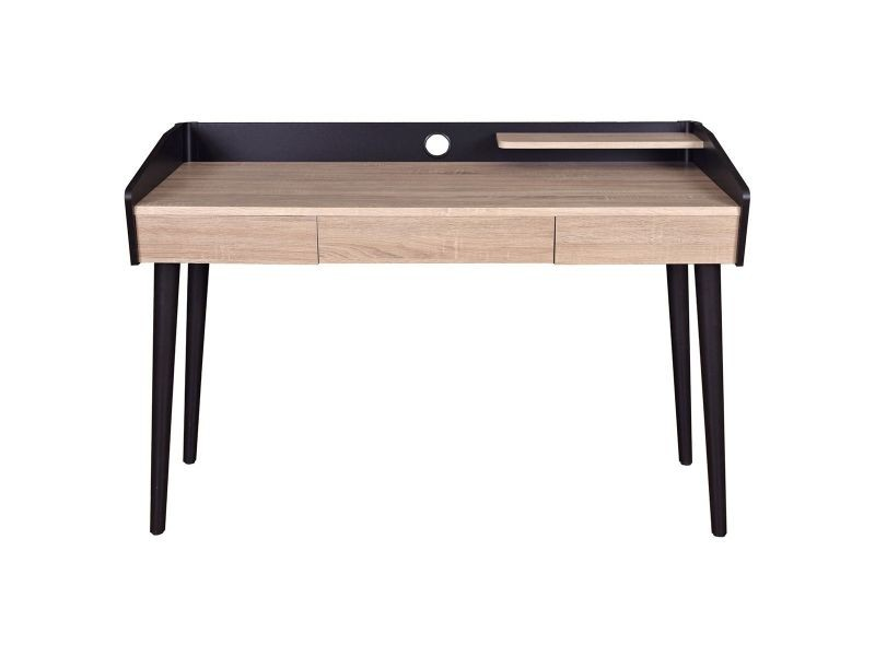 Bureau design bois et noir avec tiroir nothomb vente de bureau