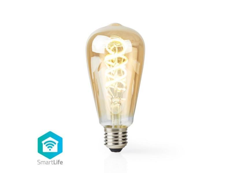 Ampoule à filament led blanc chaud à blanc froid wi-fi   torsadée   e27   st64   5,5 w   350 lm