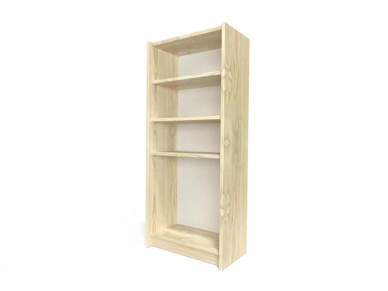 Étagère bibliothèque bois vernis naturel ETABIB-V