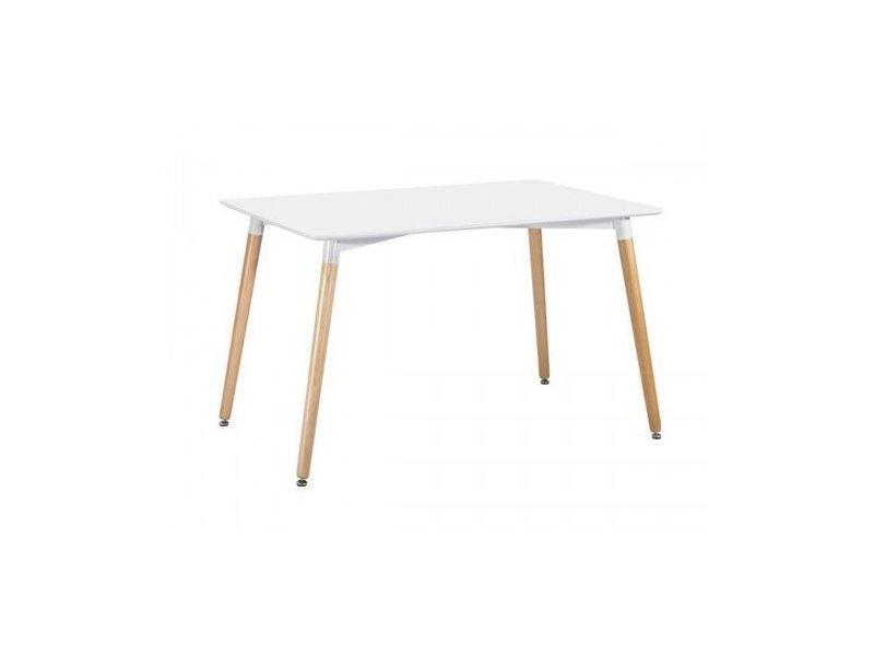 Table à manger rectangulaire blanc 120 cm elementary