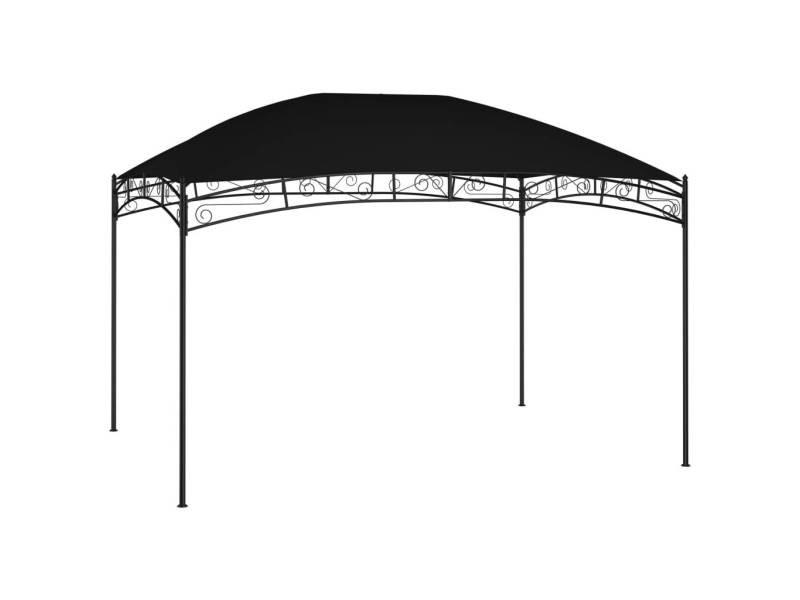 Admirable structures extérieures serie vienne belvédère de jardin 4x3 m anthracite 180 g/m²